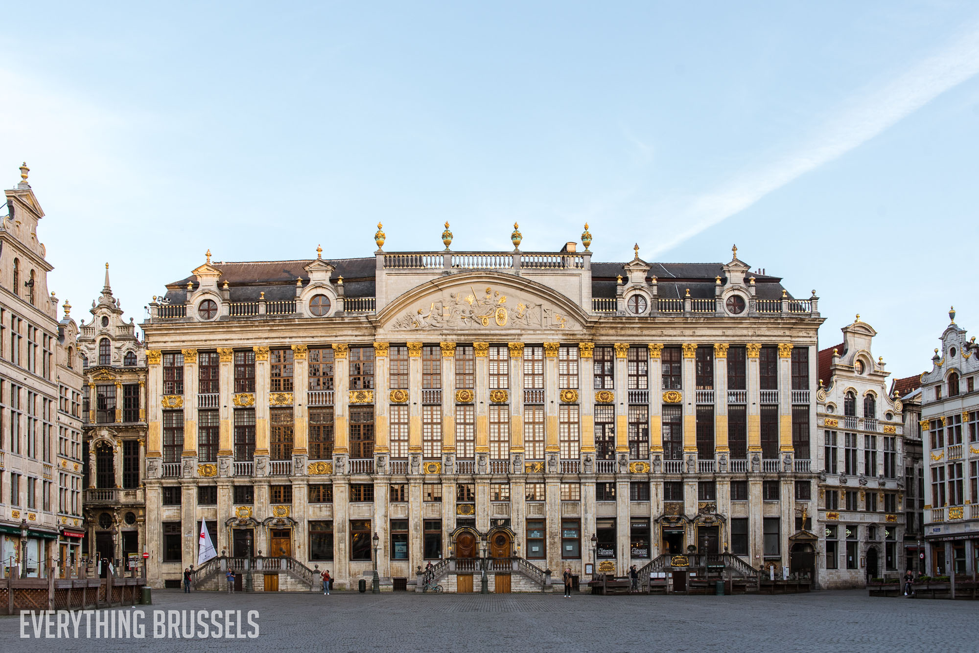 Grand Place during the lockdown, House of the Dukes of Brabant