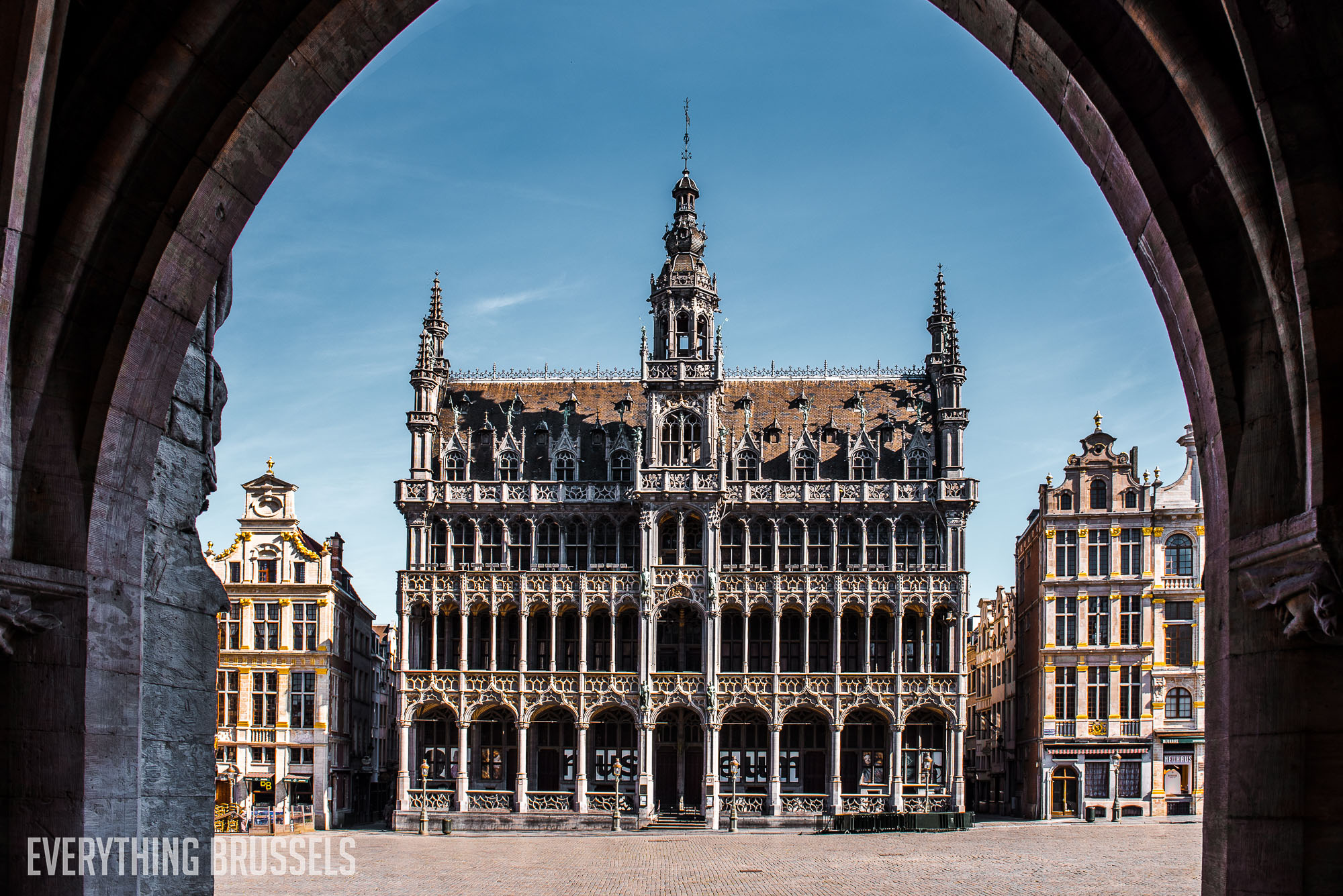 Museum of the City of Brussels, Grand Place during the lockdown