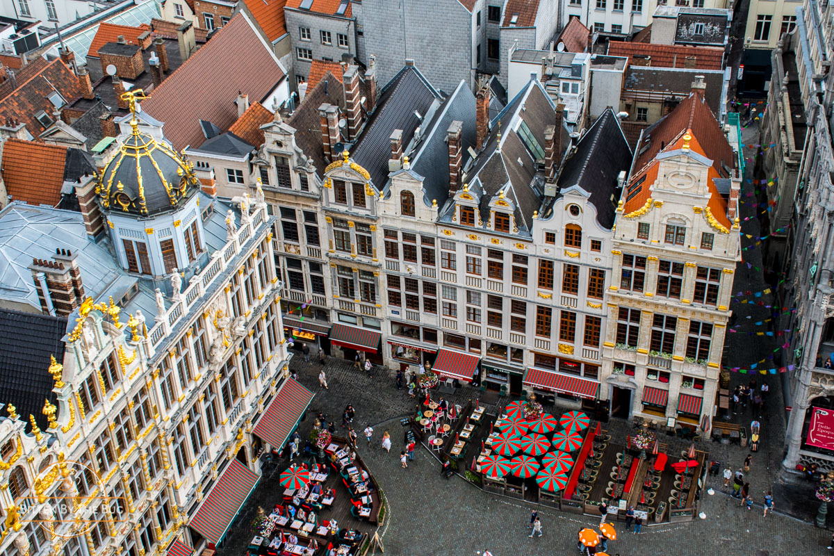 View from the tower of the town hall, Brussels