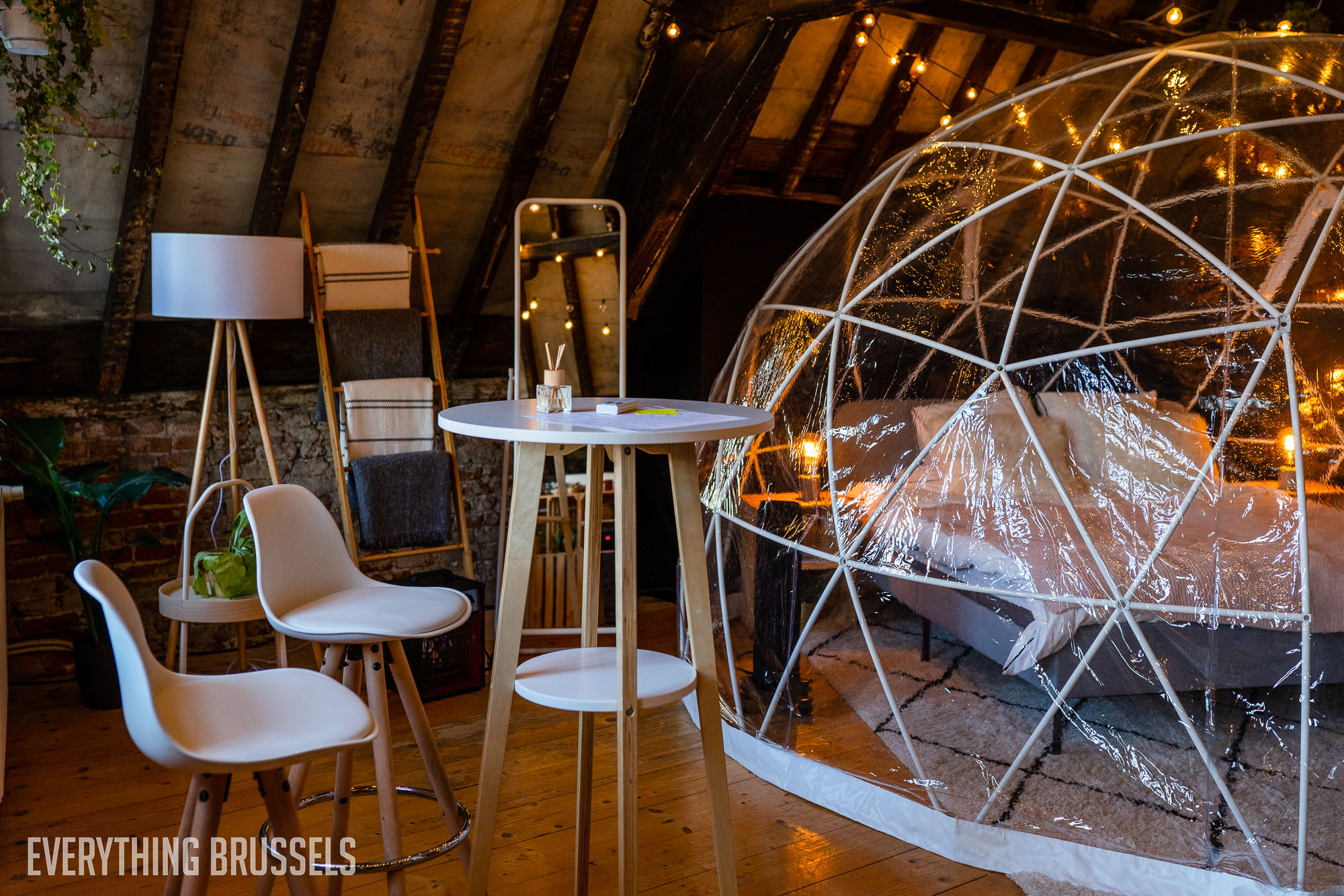 Cocoon, pop-up hotel on Grand Place