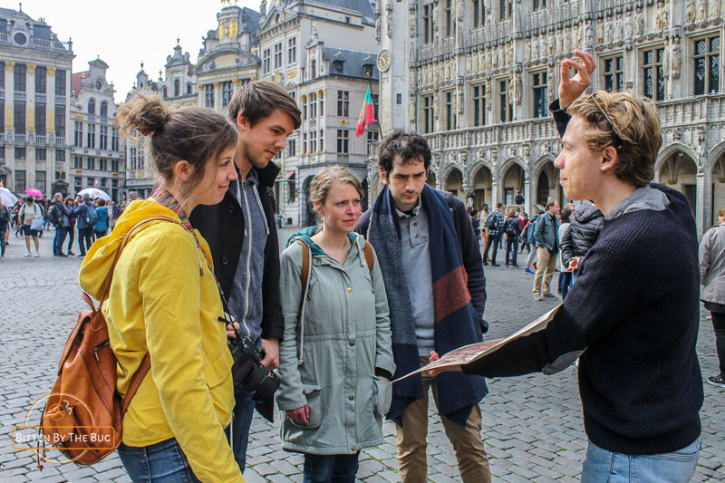 Guided city tour in Brussels