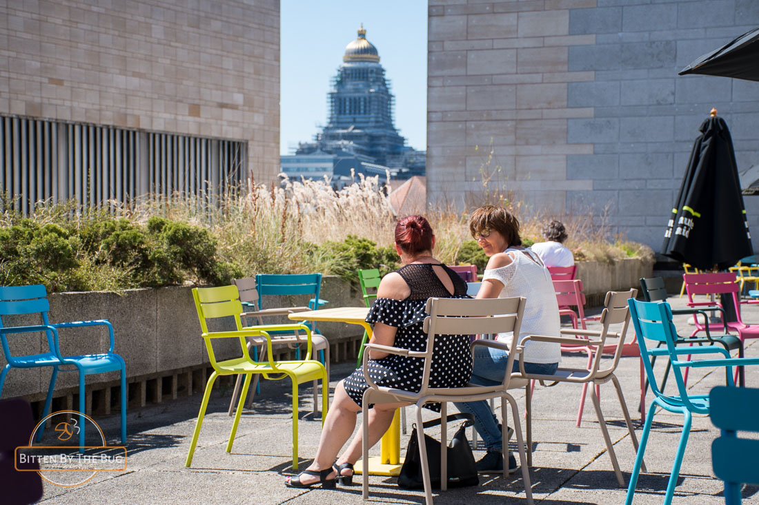 Rooftop of the Royal Library - best rooftop bars in Brussels
