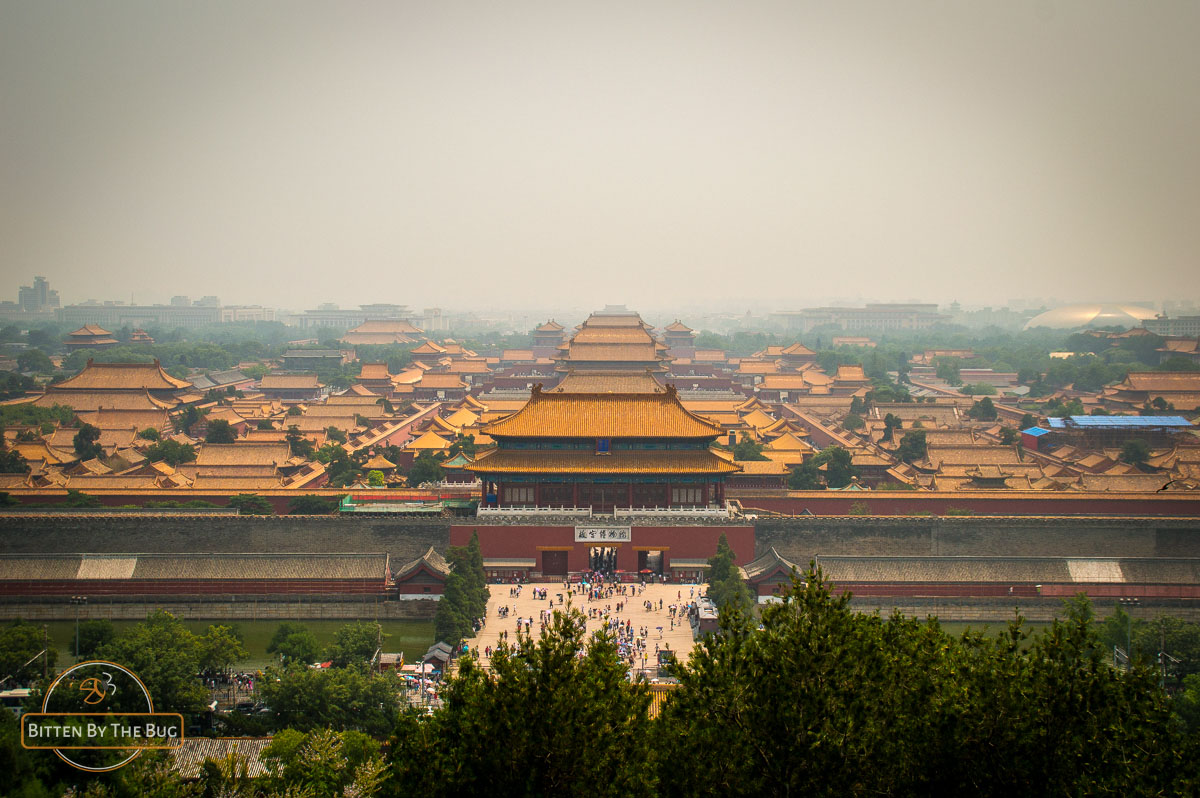 View over Forbidden City from Jingshan Park