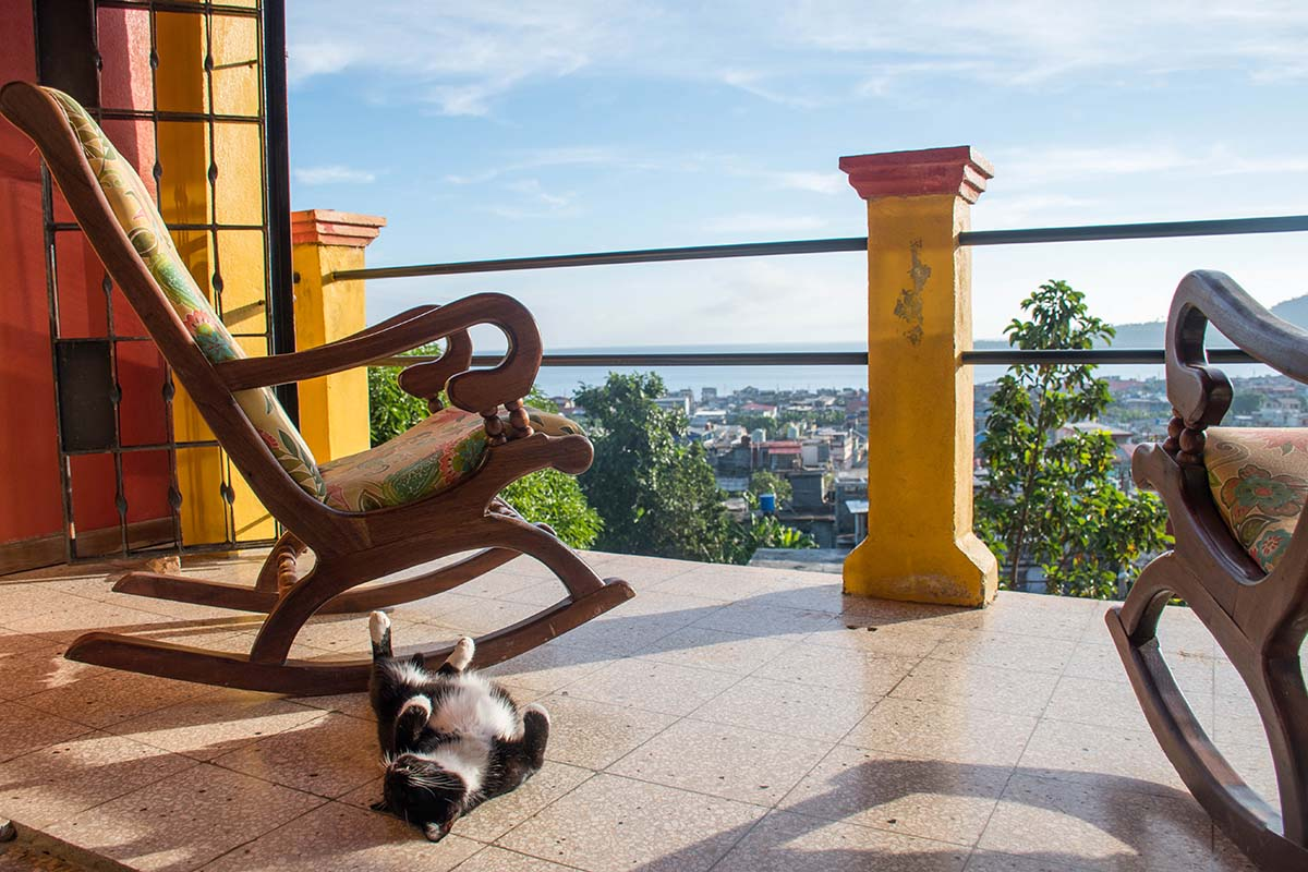 Cat is sunbathing - Villa Paradiso, Baracoa