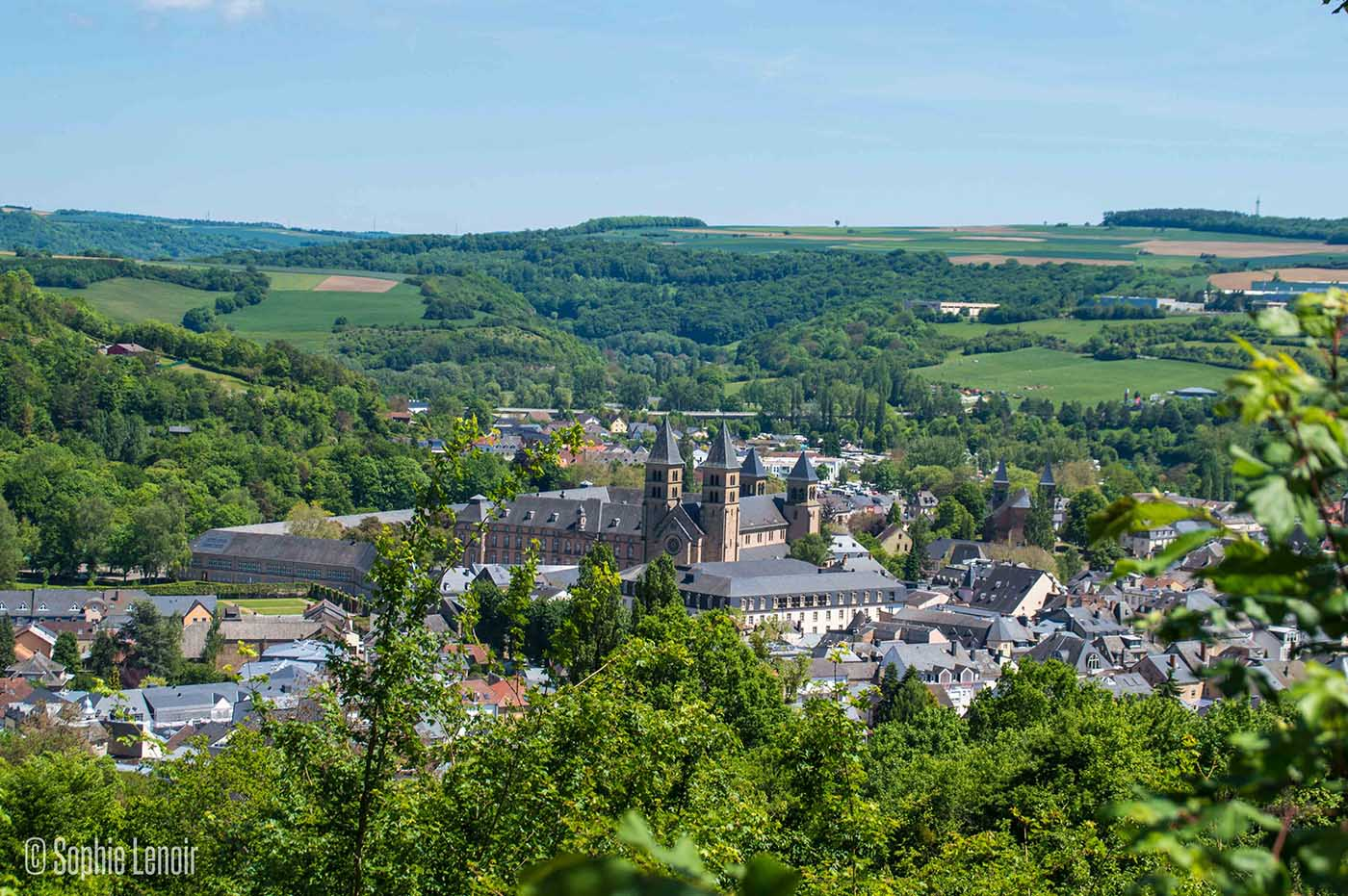 Panoramic view over Echternach
